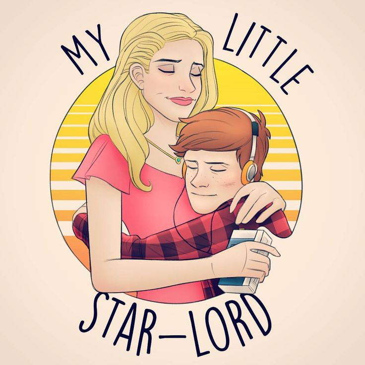 """You are the light of my life, my precious son, my little Star-Lord."" Here's a little sketch inspired by the ending of Guardians of the Galaxy (the first one ) Hope everyone had a marvelous Mother's Day weekend. Much love to Moms all across the galaxy! They're the real superheroes ❤"