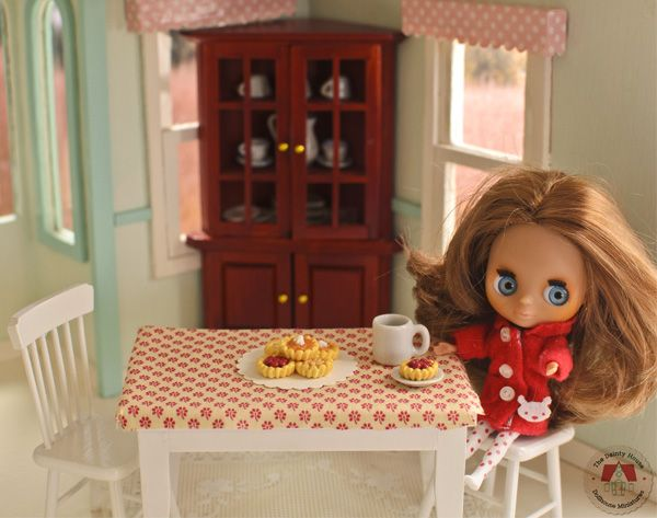Mini Blythe Enjoying a Cherry Tart