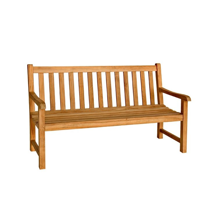 Teak Classic Benches (491561899), Rustic Outdoor Furniture, Adirondack Chairs & More | bambeco