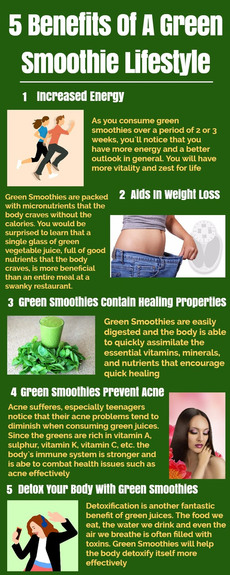 5 Reasons To Include Green Smoothie You In Your Diet - Infographic