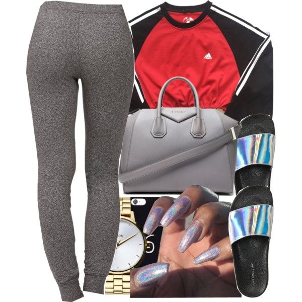 A fashion look from February 2018 featuring adidas sweatshirts, Forever 21 activewear pants and Aéropostale sandals. Browse and shop related looks.