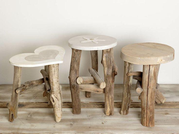 Cute & rustic wooden stools <3