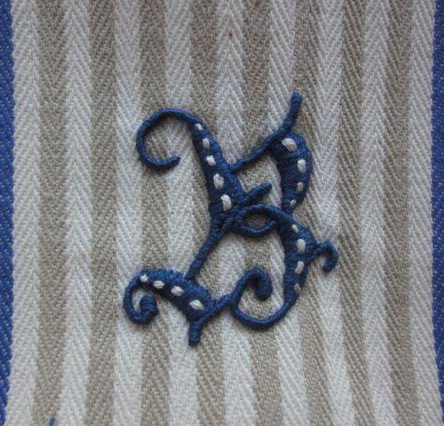 アルファベットの刺繍Ⅱの作り方