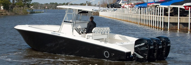 New 2012 Fountain Boats 34 Sportfish CC Open Bow Express Fisherman Boat - Going out to play!
