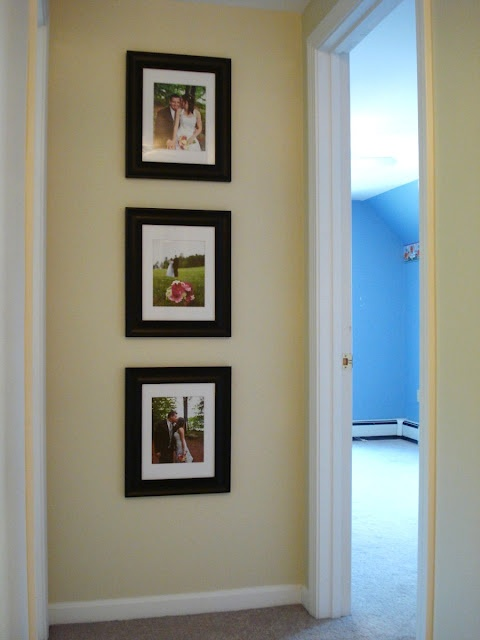 Heart Maine Home: We're so vain: Displaying wedding photos