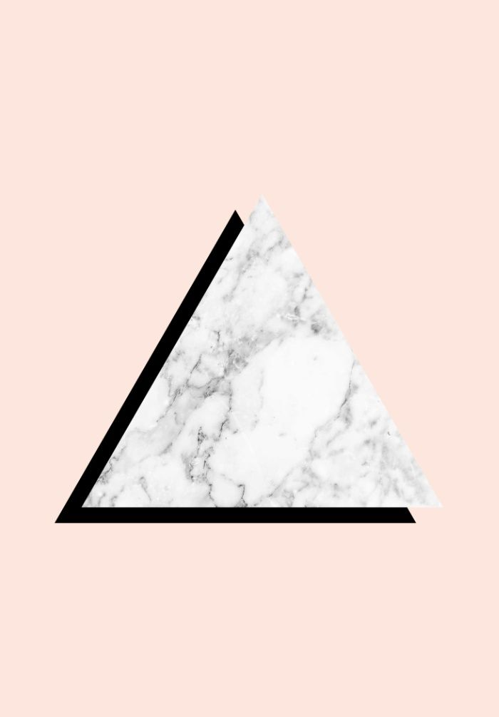 Marble Triangle Art Print @wallthreads