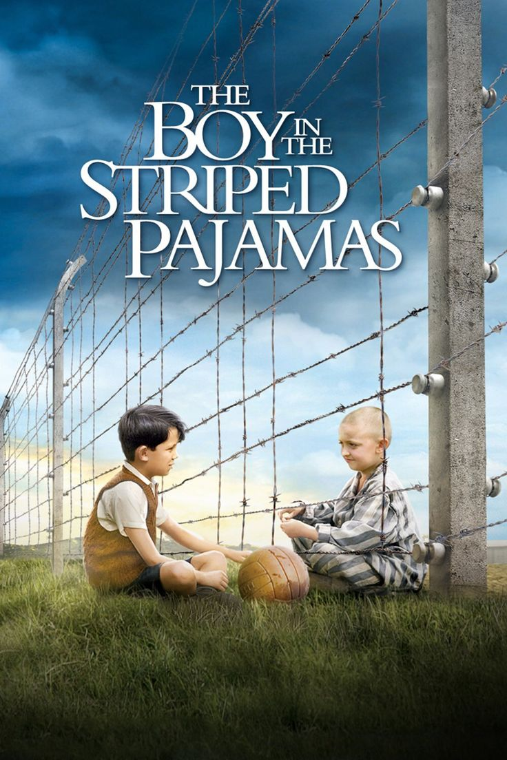 """The Boy in the Striped Pajamas""(2008).Directed by Mark Herman.Starring:Asa Butterfield,David Thewlis,Vera Farmiga,Jack Scanlon.It's a feature film, filmed on the romance by John Boyne.Bruno is eight German boy who happily lived in Berlin during the Second World War.And this film is about the mass extermination of Jews during the war. Recommended age-12+"