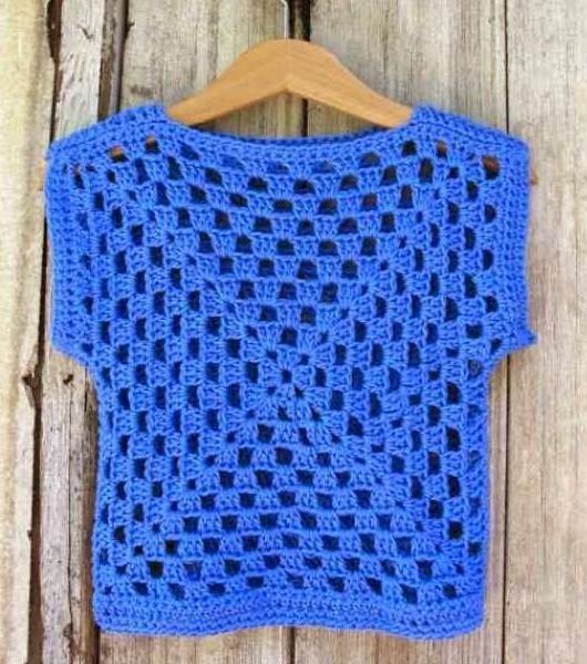 sweter com 2 granny squares