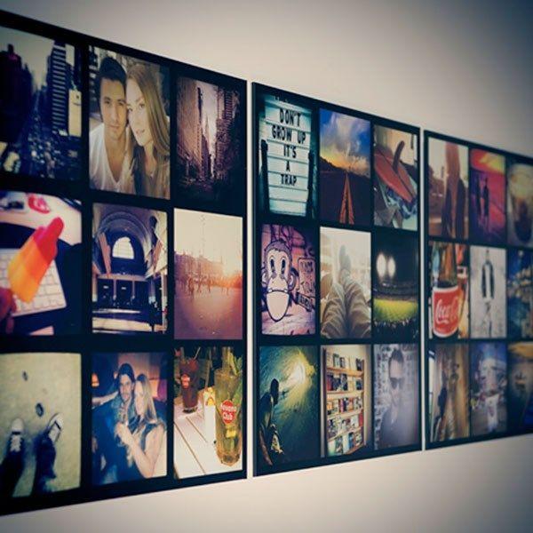 Gek op foto's nemen met Instagram? Via Instawal.nll kunt u een kader samenstellen met uw favoriete kiekjes.  Beeld: Instawall