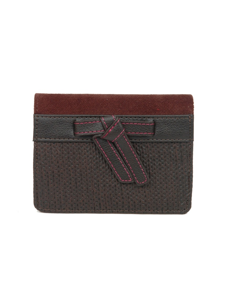 Fun wallet in brown with pop accents by Baggit.