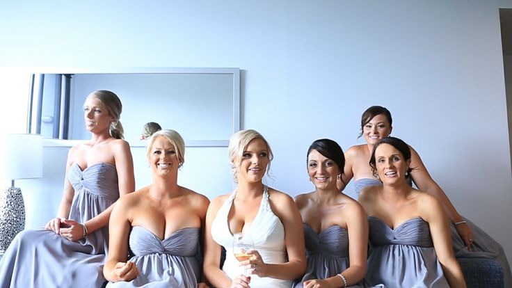Fantastic bridesmaids dresses at Barney & Aimee's wedding, great colour! Take a look at their wedding video here > https://vimeo.com/88327280