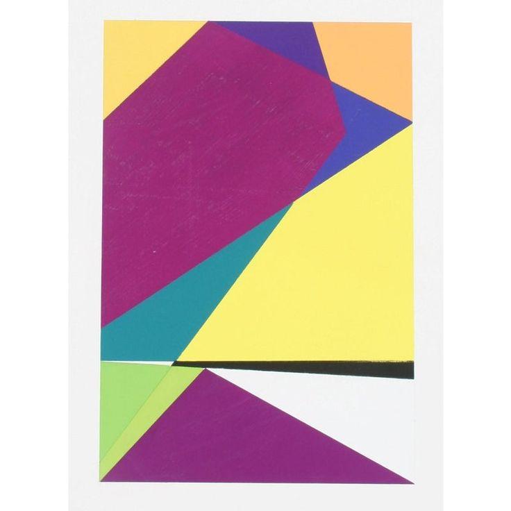 Abstrakte Gouache-Malerei I