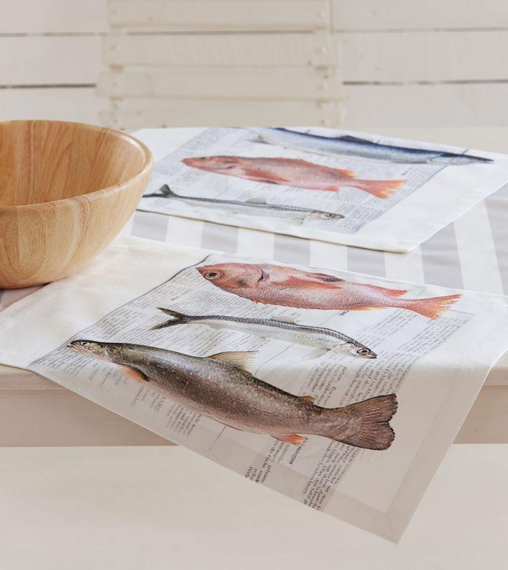 Tischset, frischer Fisch von Apelt, Artikel 3055