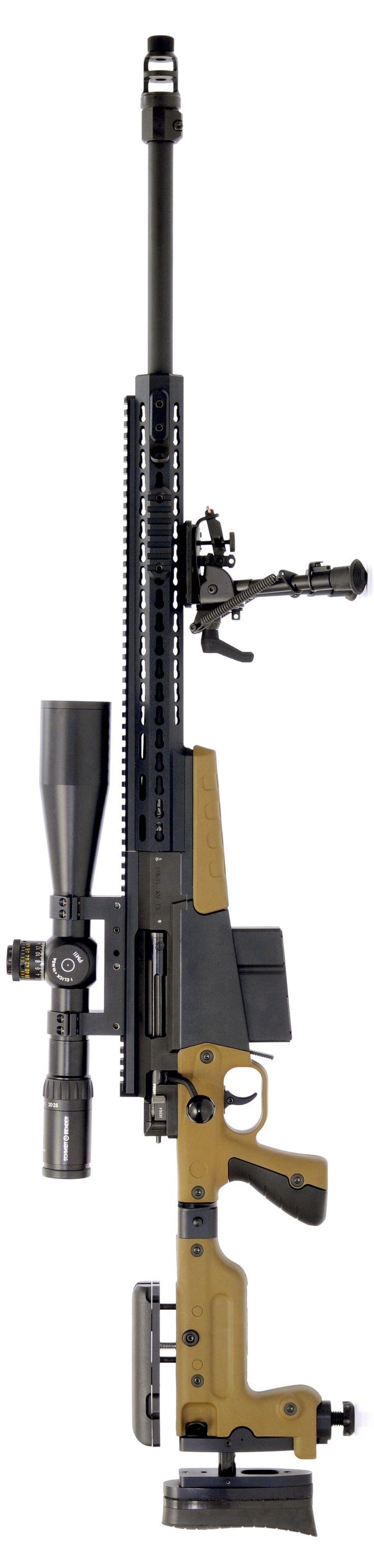 Accuracy International AX338 long range sniper rifle with folding chassis