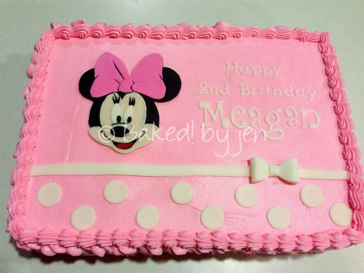Minnie Mouse Birthday Sheet Cake Nurufunicaasl