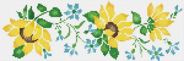 Sunflowers border