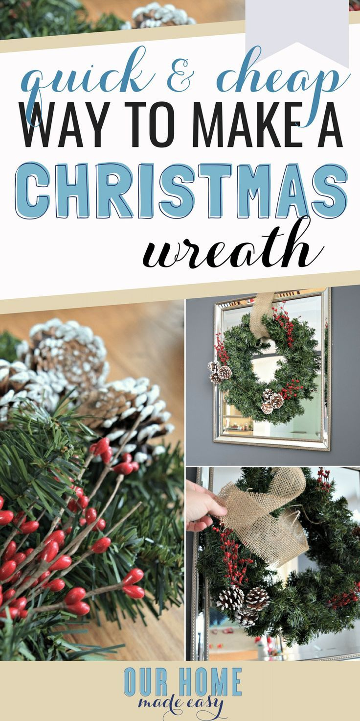 make this quick christmas wreath for just a few dollars budget christmas decor can still