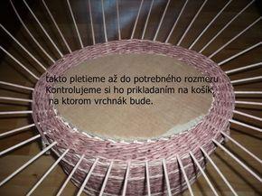 pletenie z papiera - Fotoalbum - Pletenie z papiera - návody - Návod na vrchnák
