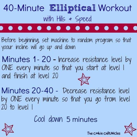 40 minute elliptical workout