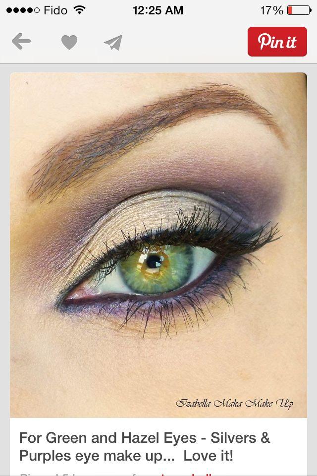 Beautiful with green and hazelnut eyes