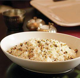 Basmati Rice Pilaf with Pistachios. (use veggie broth)