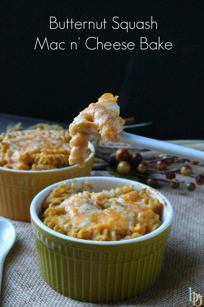Butternut Squash Mac n' Cheese Bake Recipe via Britt's Blurbs # ...