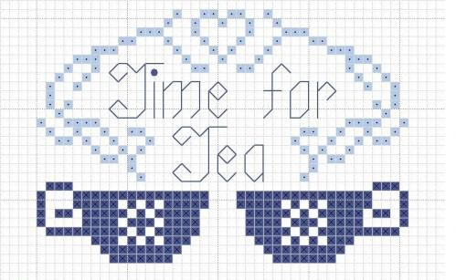 CROSS STITCH Free chart - time for tea