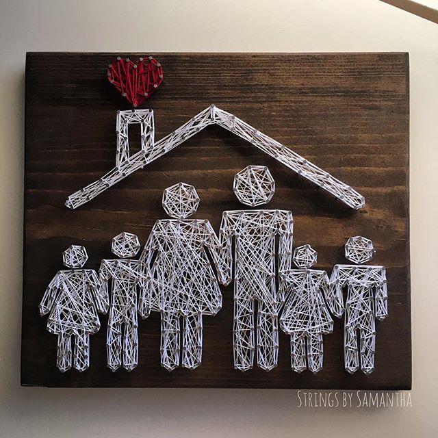 Family custom string art by stringsbysamantha