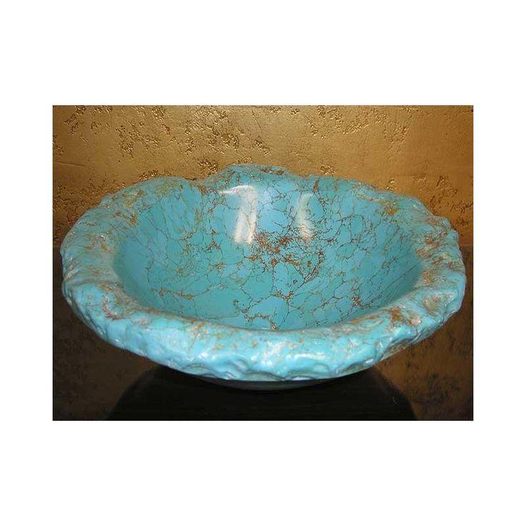Turquoise Vessel Sink : Turquoise Vessel Sink I Love Turquoise Pinterest
