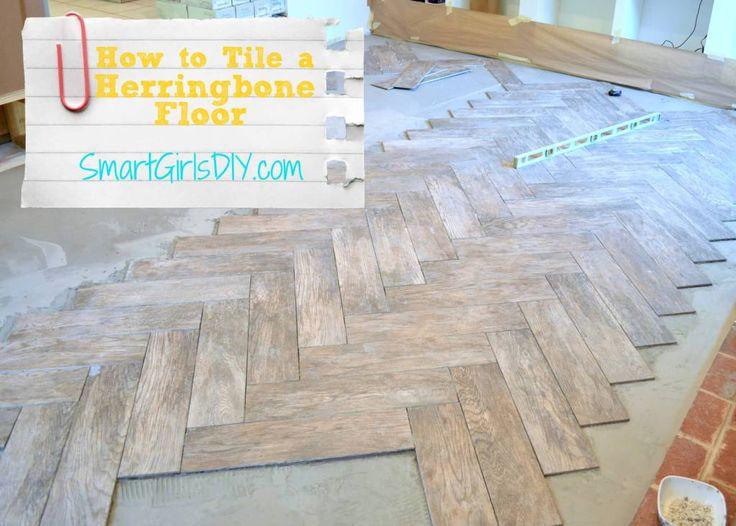 How to Tile a Herringbone Floor yourself