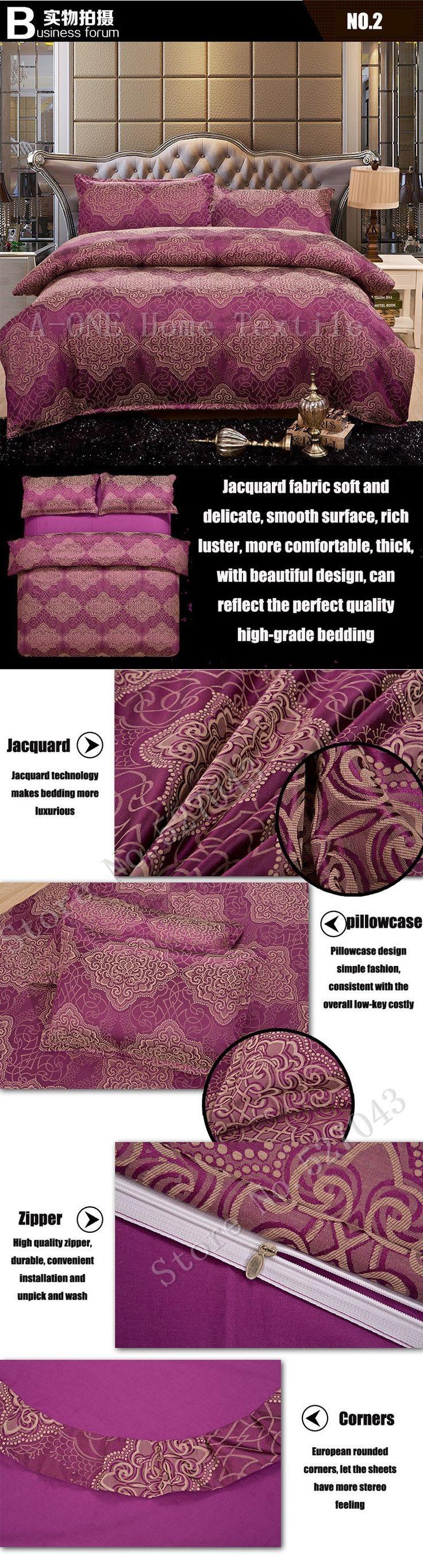 Seda de lujo juego de bordado ropa de cama de Tencel conjunto sábana de satén Jacquard ropa de cama Full / Queen / King Size cama cubierta en Conjuntos de Ropa de Cama de Casa y Jardín en AliExpress.com | Alibaba Group