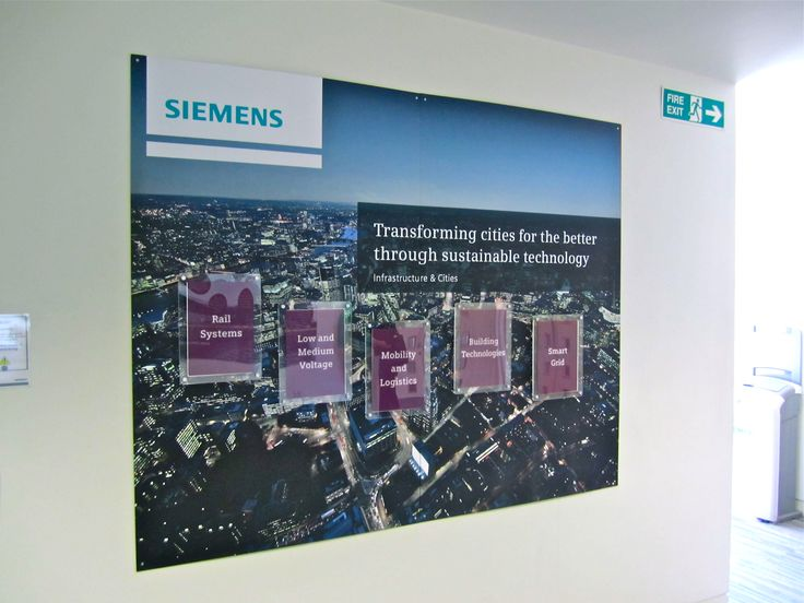 Siemens office signage with changeable inserts @1define