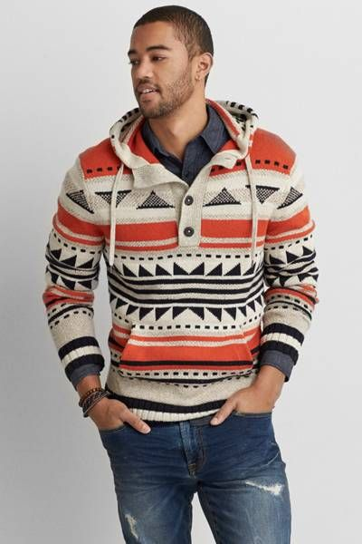 AEO Baja Sweater by AEO | A rugged layer inspired by the Southwest, perfectly lived in