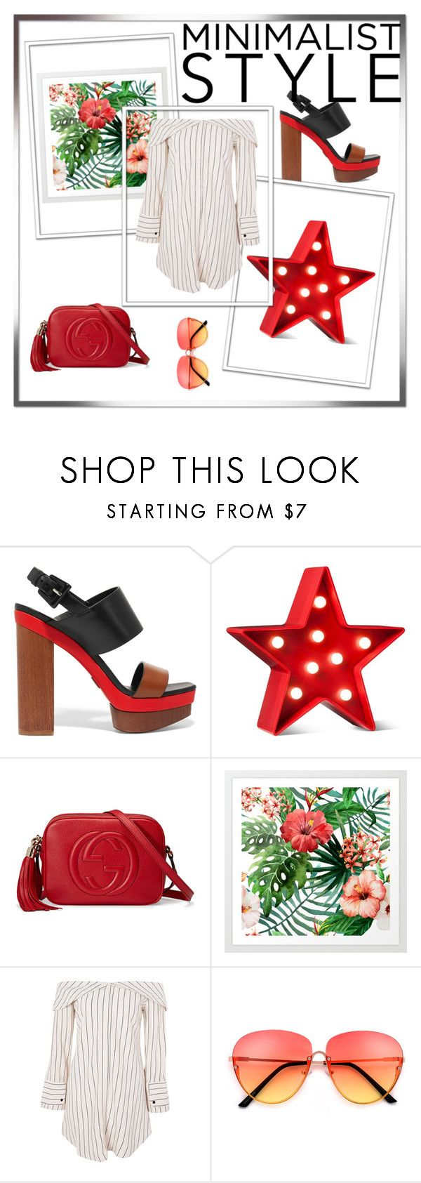 """""""Red"""" by rebecioatto on Polyvore featuring moda, Michael Kors, POPTIMISM!, Gucci e Topshop"""