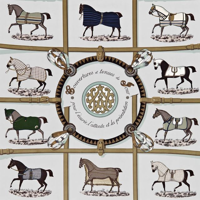 Horse Country Chic: Hermes Wallpaper and Fabric Collection