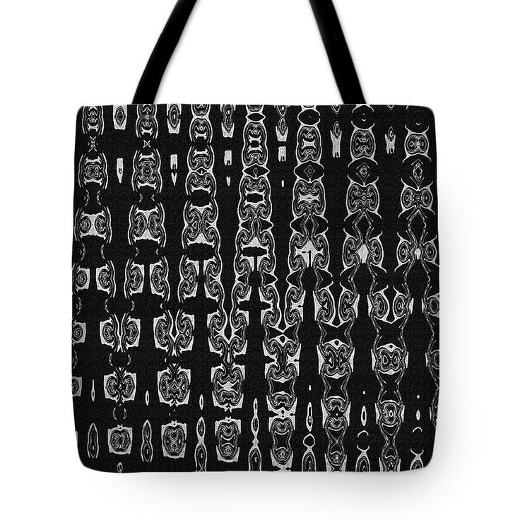 Totem Pole Masks Abstract Tote Bag by Tom Janca.  The tote bag is machine washable, available in three different sizes, and includes a black strap for easy carrying on your shoulder.  All totes are available for worldwide shipping and include a money-back guarantee.