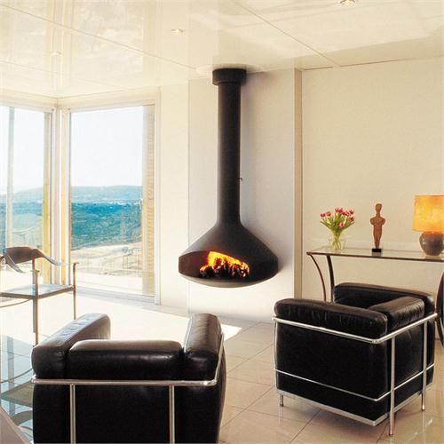 Contemporary Freestanding Fireplace from CF+D