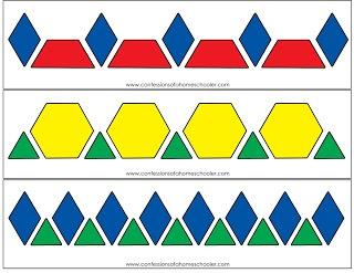 Post about printable pattern block mats