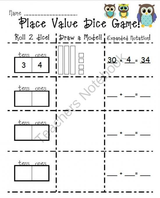 25 Best Place Value/ Hundreds, Tens, Ones Images On Pinterest