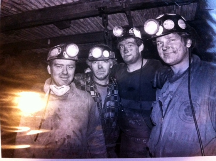 Coal Miners_1988_Billy Kelloway, Danny Boutilier, Donnie Campbell and Bill McLean_Glace Bay_Cape Breton | Photographs And Memories of Cape Breton_Cape Breton Nova Scotia
