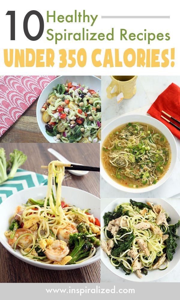 10 Healthy Spiralized Recipes Under 350 Calories from @Ali Velez Maffucci