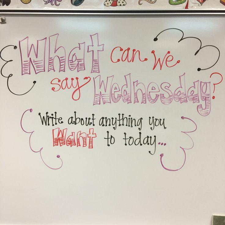Wednesday                                                                                                                                                                                 More