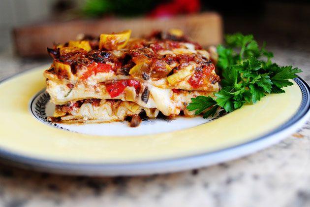 Veggie Lasagna-The Pioneer Woman.