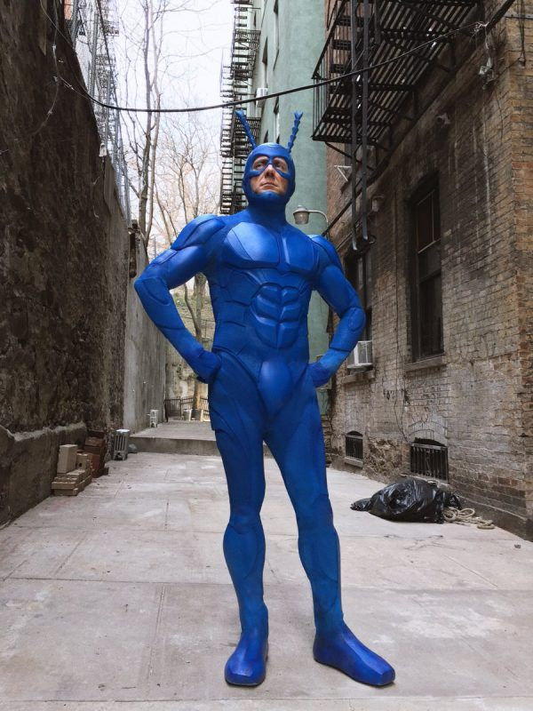 Peter Serafinowicz Get's A New Tick Costume