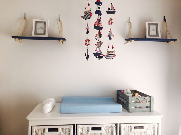 Nautical baby changing table