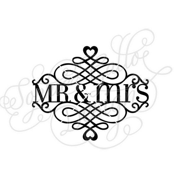 Mr mrs split flourish svg dxf digital download file for Mr art design