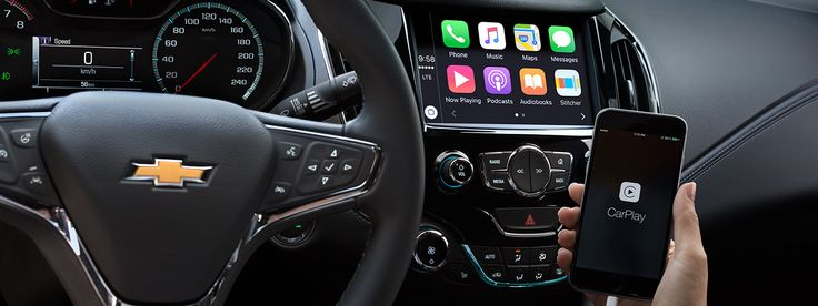 The 2016 Chevrolet Cruze is compatible with Apple CarPlay and Android Auto.