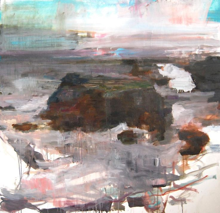 Edwige Fouvry, Le Rocher à Belle-Île, huile sur toile, 150x150 cm, 2012 ©