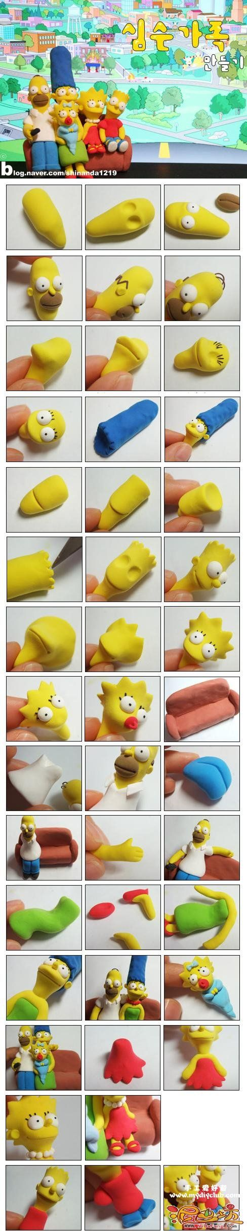 The Simpson and lots of other characters tutorials, smurf, bears, lizard