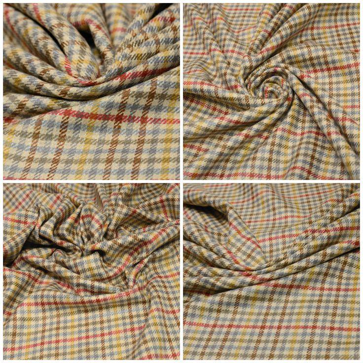 Костюмная ткань линии Massimo Rebecchi. арт. 05-003-2722 Ширина: 148 см, плотность: 265г/м2 Цвет: Фон песочный Состав ткани: 100% шелк Назначение: Юбки, платья-футляры, жакеты Костюмный твил, хорошо держит форму, переплетение нитей слегка подвижное. #костюмная#100%шелк#Massimo Rebecchi#брендовые ткани#клетка#твил#плательная#костюмная#tutti-tessuti